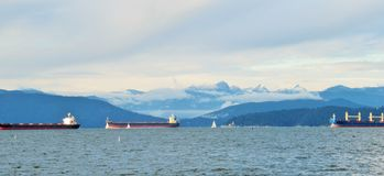 Beautiful Scenery At Jericho Beach Canada In Winter 2018 royalty free stock photography