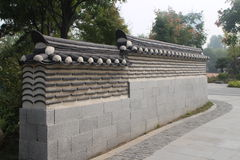 Beautiful scenery - Korean style Low wall Royalty Free Stock Photography