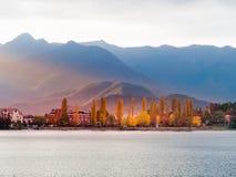 Lake Kawaguchi. Beautiful scenery of lake Kawaguchi, Japan stock photos