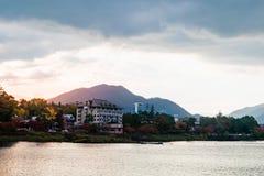 Lake Kawaguchi. Beautiful scenery of lake Kawaguchi, Japan royalty free stock photography