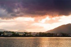 Lake Kawaguchi. Beautiful scenery of lake Kawaguchi, Japan royalty free stock photo