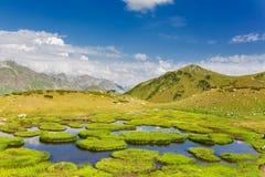 Beautiful scenery landscape with mountain lake Royalty Free Stock Photo