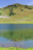 Beautiful scenery landscape with mountain lake Stock Photos