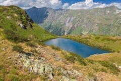 Beautiful scenery landscape with mountain lake Stock Image