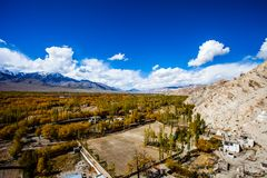 Beautiful scenery, Leh, Ladakh, Jammu and Kashmir, India Royalty Free Stock Photo