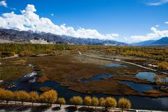 Beautiful scenery, Leh, Ladakh, Jammu and Kashmir, India Stock Image