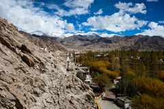 Beautiful scenery, Leh, Ladakh, Jammu and Kashmir, India Stock Photos