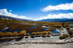 Beautiful scenery, Leh, Ladakh, Jammu and Kashmir, India Royalty Free Stock Photography