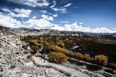 Beautiful scenery, Leh, Ladakh, Jammu and Kashmir, India Royalty Free Stock Images