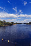 Beautiful scenery in London Hyde Park and Serpentine lake Royalty Free Stock Image