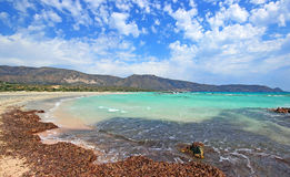 Scenery of Maleme beach on Crete, Greece. The beautiful scenery of Maleme beach on Crete, Greece Royalty Free Stock Images