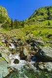 Beautiful scenery with a mountain river in the Fagarasi Mountain Stock Photo