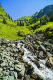 Beautiful scenery with a mountain river in the Fagarasi Mountain Stock Images