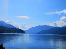 beautiful mountains, lake royalty free stock photos