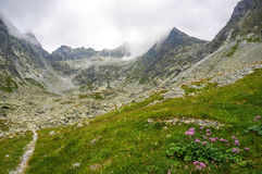 Beautiful scenery in the mountains. Slovakia Royalty Free Stock Photo