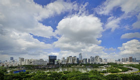 Beautiful Scenery of Nanning. The picture shows us the beautiful scenery of East Nanning. Nanning is the capital city of Guangxi Zhuang Autonomous Region in Royalty Free Stock Photo