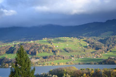 Beautiful scenery, near Bern, Switzerland. Royalty Free Stock Image