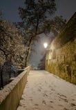 Beautiful scenery of night Prague Royalty Free Stock Photography