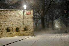 Beautiful scenery of night Prague Stock Images