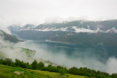 Beautiful scenery of Norwegian fjord Stock Photo