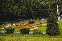 Beautiful scenery in a park in Peterhof in St. Petersburg Royalty Free Stock Image