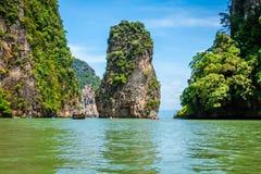 Beautiful scenery of Phang Nga National Park in Thailand. Landscapes of Phang Nga National Park in Thailand Royalty Free Stock Photo