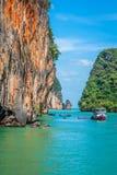 Beautiful scenery of Phang Nga National Park in Thailand. Landscapes of Phang Nga National Park in Thailand Asia Stock Photo