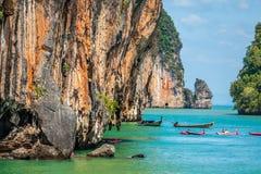 Beautiful scenery of Phang Nga National Park in Thailand. Landscapes of Phang Nga National Park in Thailand Asia Royalty Free Stock Photos