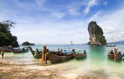Beautiful scenery at Poda Island at Krabi Thailand Stock Images