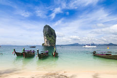 Beautiful scenery at Poda Island at Krabi Thailand Royalty Free Stock Image