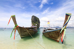 Beautiful scenery at Poda Island at Krabi Thailand Royalty Free Stock Photography