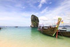 Beautiful scenery at Poda Island at Krabi Thailand Stock Photos