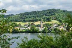 Beautiful scenery prospects around Rursee Royalty Free Stock Image