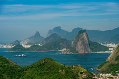 Natural Mountain Landscape of Rio de Janeiro royalty free stock image