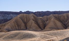 Beautiful scenery route through Death Valley National Park in California Stock Images