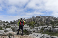 Beautiful scenery route Torcal Antequera in the province of Malaga Royalty Free Stock Photography
