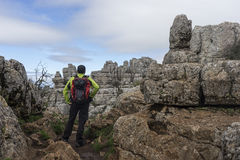 Beautiful scenery route Torcal Antequera in the province of Malaga Royalty Free Stock Images