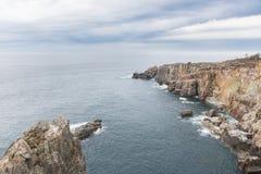 Cliff and ocean stock photos
