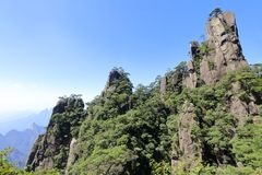 Beautiful scenery of sanqingshan mountain, adobe rgb royalty free stock photography