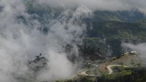 Beautiful scenery. See the clouds float on mountain peaks stock video