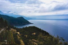 Scenery with shoreline in Palma de Mallorca Royalty Free Stock Image