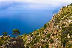 Scenery with shoreline in Palma de Mallorca Royalty Free Stock Photo