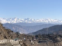 Beautiful scenery of Snow covered Himalayan Ranges stock images