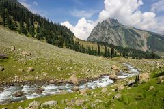 Beautiful scenery of Sonamarg in summer season, Jammu Kashmir, I. Ndia, Asia Royalty Free Stock Photo