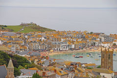 Beautiful Scenery of St Ives Cornwall with Buildin Royalty Free Stock Photos
