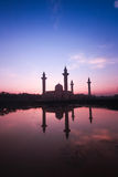 Beautiful scenery during sunrise at Bukit Jelutong Mosque Malaysia Stock Photos