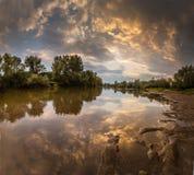 Beautiful scenery with sunset reflection Stock Image