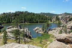 Beautiful scenery at Sylvan Lake Royalty Free Stock Image