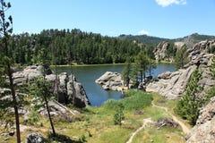 Beautiful scenery at Sylvan Lake Royalty Free Stock Photo