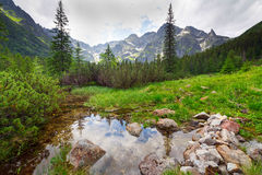 Beautiful scenery of Tatra mountains Royalty Free Stock Image